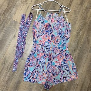Lilly Pulitzer Dusk Romper in Shell Me About It